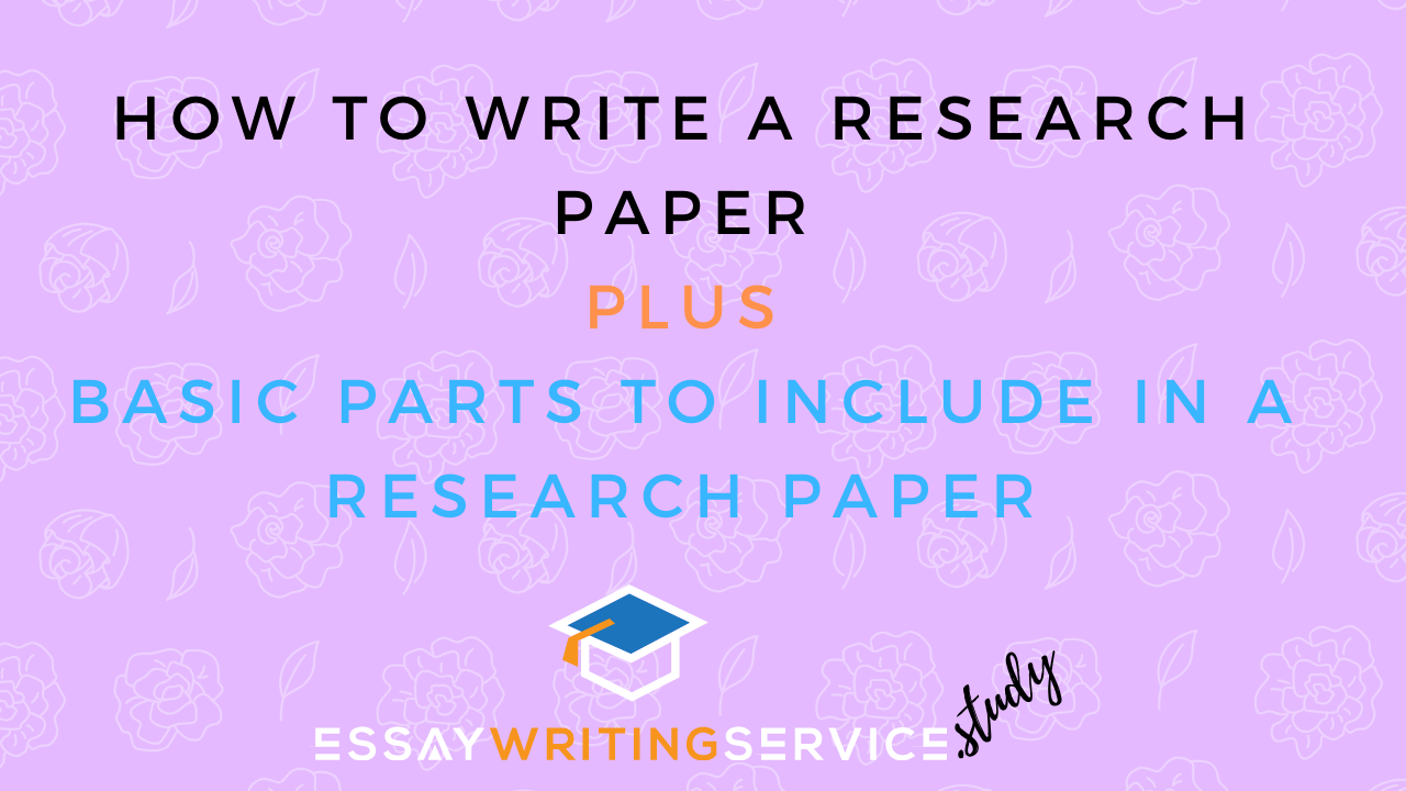 What are the parts of a research paper?